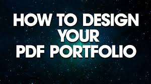 Graphic Design How To Design Your Pdf Portfolio See Outlook