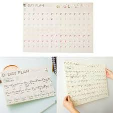 Monthly Weekly Daily Planner 100 Day Wall Calendar Monthly Weekly Daily Planner