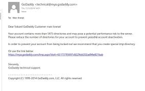 Targeted Phishing Against Godaddy Customers