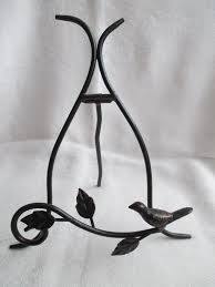 Metal Plate Display Stands Simple Black Metal DECORATIVE PLATE HOLDEREasel Display Stand W Scrolling