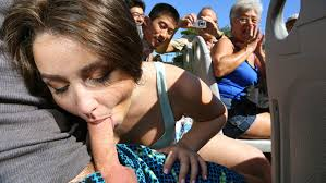 Public blowjobs in crowed areas