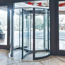4000 series all glass revolving door from crane