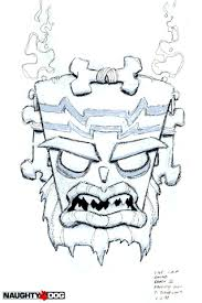 Small Picture evil tiki design from crash bandicoot Drawings Character Design