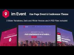 Event Website Template New Im Event One Page Event And Conference Template Themeforest