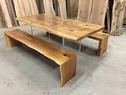 best hardwoods for furniture. Book-Match Cedar Table Plexi-glass Base Waterfall Benches No Logo Jewell Hardwoods Finished Best For Furniture