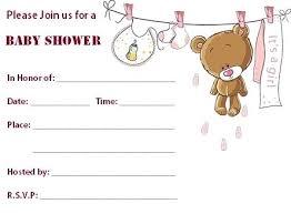 Free Invitation Template Downloads Stunning Blank Baby Shower Invitations Templates Blank Pink Teddy Bear Baby