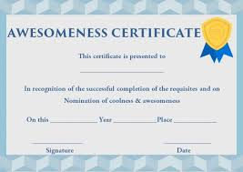 Certificate Of Awesomeness Template Certificate Of Awesomeness 10 Stunning Templates Completely