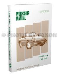 1985 1989 alfa romeo spider repair shop manual reprint 1985 1989 alfa romeo spider shop manual reprint