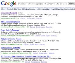 Resume Search Interesting Resumes On The Internet Monster Vs Google Round 60 Boolean Black