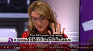 Bbc presenter, victoria derbyshire, has broadcasted a secret message written on her hand for domestic violence victims trapped in their homes during this coronavirus bbc host victoria derbyshire had a secret message for viewers during a broadcast this week.source:bbc news. Victoria Derbyshire Apologises For Jeremy Hunt C Word Blunder The Bolton News