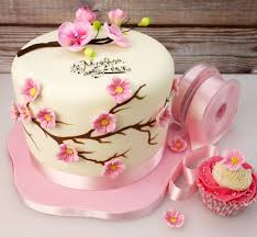 How To Make A Cherry Blossom Cake For Mothers Day2 Mothers Day In