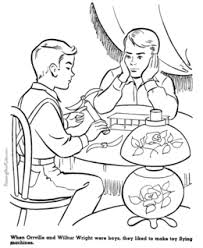 Wright Brothers Coloring Page Master Coloring Pages