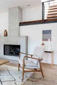 Clean, modern fireplace