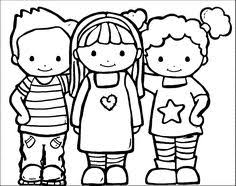 Friendship Coloring Page Storytimes Preschool Friendship