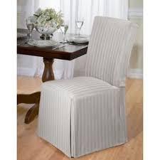 cotton herringbone dining chair slipcover tan grey madison dining room chair slipcovers