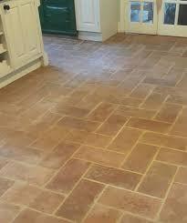 terracotta lodge floor tile before cleaning in welwyn garden city