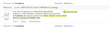 find msu theses diy research guide libguides at morehead state  search results