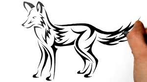 tribal fox drawing. Simple Fox On Tribal Fox Drawing N