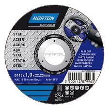 Круг отрезной по металлу Norton <b>115 х 1</b> х <b>22</b>,2 мм - купите по ...