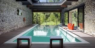 indoor infinity pool. Indoor Infinity Pool With View