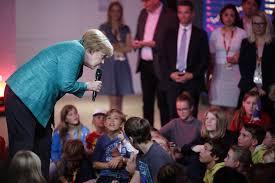 Angela merkel has long dominated european and international politics. Merkel Answers Questions At Children S Press Conference Taiwan News 2017 09 17
