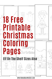 Join eggbirt on a magic egg surprise adventure! 18 Free Printable Christmas Coloring Pages Mama Bear Wooten