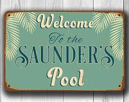 Swimming Pool Decor Signs Swimming Pool Signs Etsy 3