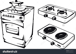 gas stove clipart black and white. fire on stove clipart black and white gas i