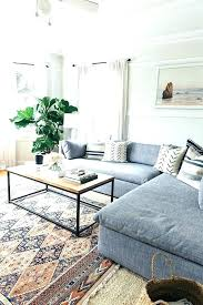 how to place a rug under a sectional sofa how to place a rug under a