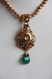 off antique gold finish pendant earring