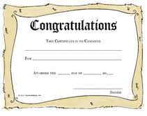 congratulations certificate templates printable congratulations award certificates templates