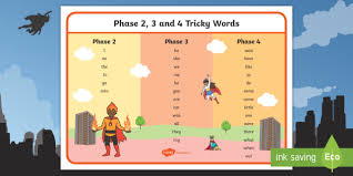 8692 template word new superhero themed phase 2 3 and 4 tricky words word mat