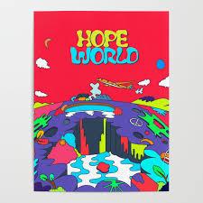 World Art Design Jhope Hope World Album Art Poster By Imgoodimdone