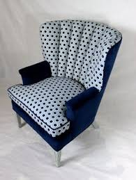 available vine channel back chair wing back chair in navy velvet and textured geometric velvet navy blue geo
