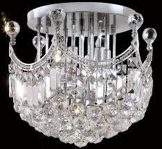 rome collection 16 dia medium crystal semi flush ceiling light