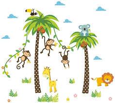 animal monkey birds wall decals