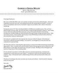 How To Write A Cover Letter For Journalism Internship Letter