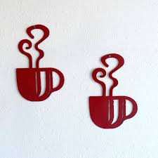 decor metal coffee cup wall decor awesome inspirations of metal coffee cup wall art for decor