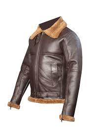 men s aviator raf b3 light golden sheepskin fur leather er flying jacket front left
