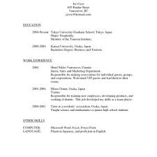 Sample Resume For Hospitality Students New Sample Resume For