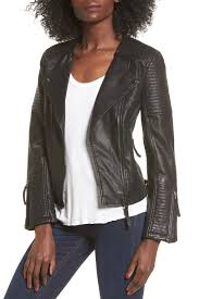 image of top luna pu biker jacket