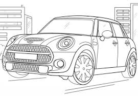 Small Picture Mini Cooper coloring page Free Printable Coloring Pages
