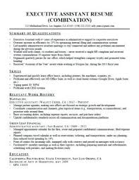 Sample Of Resume For Administrative Assistant Executive Assistant
