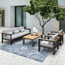 harrier luxury garden sofa table set