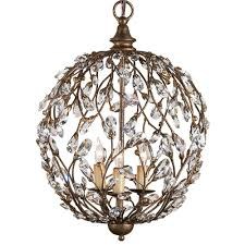 crystal bud sphere chandelier by currey company