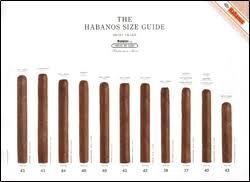 Cigar Chart Poster The Habanos Size Guide Cigar Aficionado