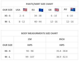 Pants Skirt Size Chart Rinikini Designer Crochet Bikinis