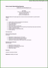 Entry Level Hr Resume No Experience Exceptional Entry Level