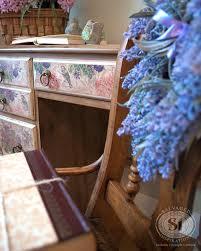 floral decoupage furniture. Decoupage-desk-w-napkins Floral Decoupage Furniture