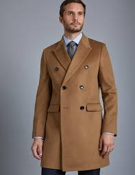 men s double ted camel wool cashmere overcoat